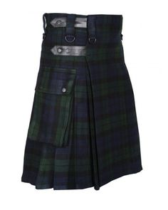 Scottish Great Highland 8 Yards Traditional Kilt Black Watch Tartan Acrylic Wool Size ( 30 to 50 inches ) Inner lining protects quality and ensures comfort Machine Washable Tartan Men, Tartan Kilt, Scottish Kilts, Scottish Tartans, Kilts For Sale, Modern Kilts, Utility Kilt, Men In Kilts, Acrylic Wool