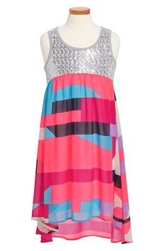 Truly Me Empire Waist High/Low Dress (Big Girls) available at #Nordstrom