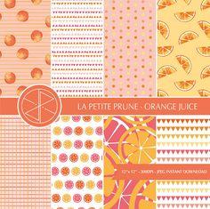 Papel digital naranjas, digital paper oranges #pattern #digitalpaper