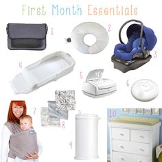 The 20 things you need for the first month home with a newborn baby.