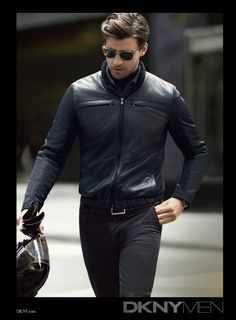 Choosing The Right Men's Leather Jackets – Revival Clothing Leather Fashion, Leather Men, Black Leather, Leather Jackets, Biker Jackets, Black Denim, Sharp Dressed Man, Well Dressed Men, Look Fashion