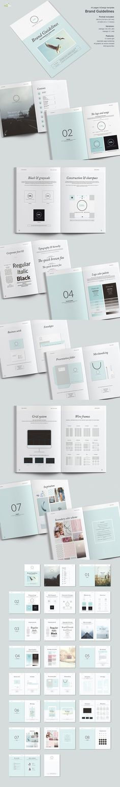 Brand Guidelines - use full page photos instead of solid colors for section openers