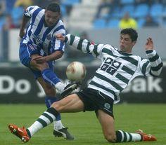 Cristiano Ronaldo v Derlei (Porto) in action, 2002/03