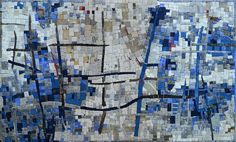 Blue Abstract Mosaic Mural Art | Mozaico | Flickr