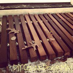 How to make a wood plank door mat! | Door mats, Doors and Plank