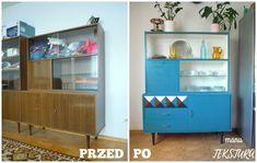 Diy Furniture Renovation, Mcm Furniture, Refurbished Furniture, Upcycled Furniture, Furniture Makeover, Painted Furniture, Small Teen Room, Casa Retro, Retro Sideboard
