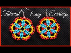 Easy Lace Seed Bead Earrings - Tutorial for beginners - YouTube