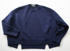 "lacollectionneuse: "" CELINE セリーヌ ウールクルーネックビッグニットプルオーバーXS technical knit jumper (xs) • céline 32,900円 """