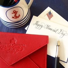 """Where Liberty dwells, there is my country"" - Benjamin Franklin #memorialday #memorialdayweekend #american #flag #patriotic #benjaminfranklin #lettering #stationeryengravers #dempseycarroll #dempseyandcarroll"