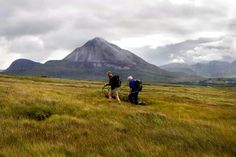 Hiking in Donegal. Mt Errigal. Ireland