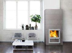 The new Tulikivi Vasa Grafia House, Home, Contemporary, Modern House, Modern Design, Modern, Stone Surface, Fireplace, Metal Door