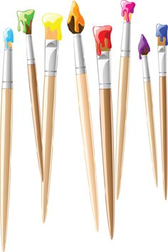 "Photo from album ""Школьные принадлежности"" on Yandex. School Vector, School Clipart, Image Clipart, Clip Art, Art Birthday, Art Party, Tole Painting, Paint Brushes, Art Education"