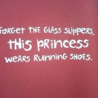 This princess wears running shoes.