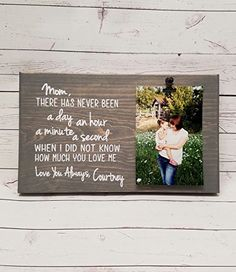 X Mom Letter  Poem Picture Frame gift Gift for mom photo board picture with clip gift for grandma i love you mommy frame first mothers day 7x12 mothers Day >>> To view further for this item, visit the image link.Note:It is affiliate link to Amazon.