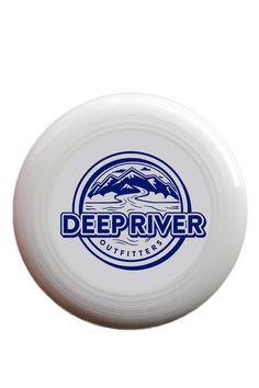 Discraft's 175 gram UltraStar Sportdisc with navy Deep River Outfitters logo.