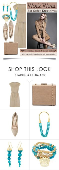 """""""Work wear: for office executives"""" by captainsilly ❤ liked on Polyvore featuring FABIANA FILIPPI, Gianvito Rossi, Aurélie Bidermann and Good Charma"""