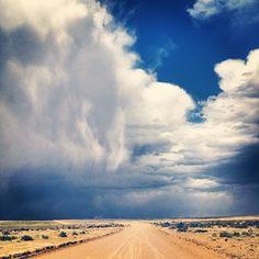 Dirt roads + sky = landscape unlike anywhere else. New Mexico.