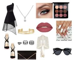 """Evening out"" by christine-lacher on Polyvore featuring Christian Louboutin, David Koma, Stella & Dot, Lulu*s, Givenchy, Smashbox, MAC Cosmetics, Ghost and Le Specs"