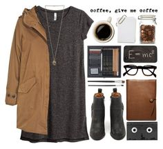 Prudence by tania-maria on Polyvore featuring moda, H&M, Woolrich, Jeffrey Campbell, Theory, Coach, Luckies, Fall, brown and coffee