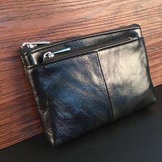 2017 Small Cute Women Short Wallets Genuine Cowhide Leather Mini Wallet Blue Black Men's Coin Pocket Premium Ladies Hand Purses //Price: $23.64 & FREE Shipping //     #WallArt