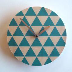 Objectify Blue Triangle Wall Clock by ObjectifyHomeware on Etsy