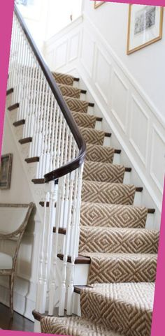 Wooden Staircases, Curved Staircase, Stairways, Staircase Remodel, Staircase Makeover, Staircase Ideas, House Stairs, Carpet Stairs, Carpet Runner On Stairs