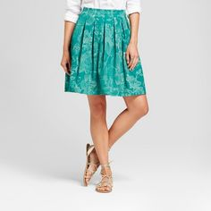 Printed Leaves Pleated Skirt from ISANI for Target