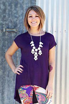 Meg's High-Lo Tunic - Purple | The ZigZag Stripe LLC