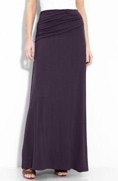 I have this in black... I want it in every color.  Comfiest maxi skirt ever.
