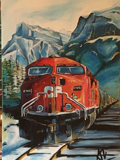 Train In the Canadian Rockies
