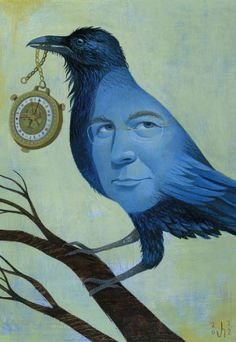 His Grimm Materials: A Conversation With Philip Pullman, By Michael Mechanic, Illustration by Jody Hewgill (Mother Jones) Scary Images, Philip Pullman, His Dark Materials, Raven Art, Jackdaw, Crows Ravens, Grimm Fairy Tales, Rabe, Horror Art
