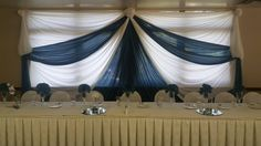 Head Table with Draping Backdrop