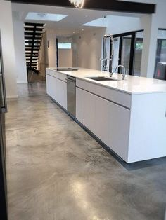 Top 50 Best Concrete Floor Ideas - Smooth Flooring Interior Designs