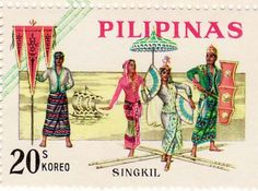 LOVE this stamp... SINGKIL is a royal dance of the Maranao people in the Philippines.