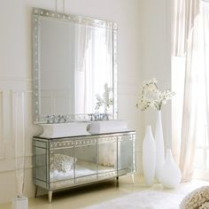 Luxe Italian Designer Bathroom, sharing beautiful designer home decor inspirations: luxury living room, dinning room & bedroom furniture, chandeliers, table lamps, mirrors, wall art, decorative     tabletop & bathroom accents & gifts courtesy of instyle-decor.com Beverly Hills enjoy & happy pinning