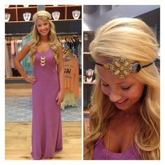 not so much the headband but love the dress and necklace