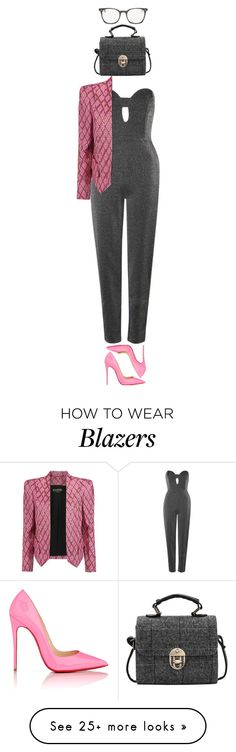 """""""♡ had to, lmao goodnight guys, ily ♡"""" by casey-yolo on Polyvore featuring Topshop, Balmain, Christian Louboutin and Oliver Peoples"""