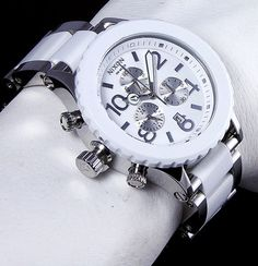 0ea12cefaad4 Nixon 42-20 Chrono High Polish White Acetate Watch - Free Shipping Polish,  Free