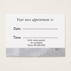 Doctor's Office Appointment Card | Business cards