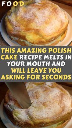 Cake Recipes, Baking Recipes, Dessert Recipes, Polish Cake Recipe, Polish Desserts, Polish Recipes, Delicious Desserts, Yummy Food, Special Recipes