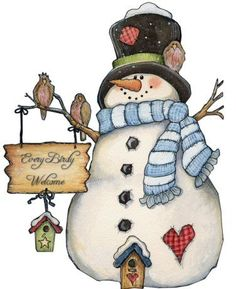 snowman...great idea for quilting, felting or just embroidering