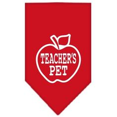 Teachers Pet Screen Print Bandana Red Small