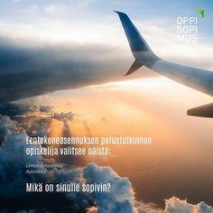 Valitse sinulle sopivin tutkinto. Vaihtoehtoja on yli 160! #lentokoneasennus #perustutkinto #oppisopimus #asennus #lentokone #avioniikka