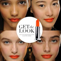 Red lips are so last week. Go orange.
