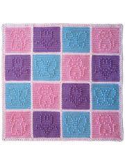 Popcorn Patchwork Blanket for Girls Crochet Pattern Pack @ annies attic