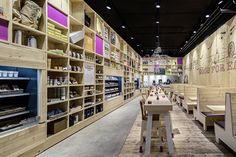 WOODEN STORE INTERIORS! WakuWaku Dammtor by Ippolito Fleitz Group, Hamburg store design