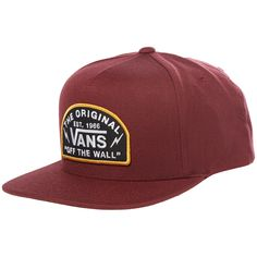 Vans Bolt Action Snapback Hat 2019 in Red Designer Caps, Ball Caps, Mesh Cap, Snapback Cap, Dad Hats, Baseball Cap, Ava, Streetwear, Cool Outfits