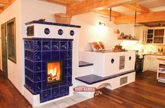 Stair Shelves, Chalet Style, Stove Fireplace, Rocket Stoves, Traditional Interior, Old Kitchen, Building A House, Living Spaces, New Homes
