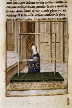 from Gesta infantiae salvatoris. c 1470 Bodlian LIbrary Oxford University Woven Image, Tablet Weaving Patterns, Weaving Looms, Card Weaving, Medieval World, Weaving Projects, Illuminated Manuscript, Middle Ages, Fiber Art