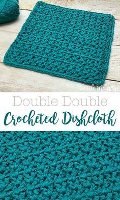 Crochet Kitchen, Crochet Home, Crochet Crafts, Easy Crochet, Crochet Projects, Knit Crochet, Diy Crochet Dishcloth, Knitted Dishcloths, Double Crochet